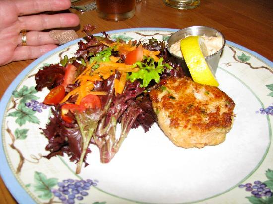 Once Upon a Table: Crab cake and mesclun