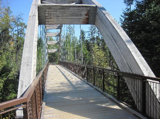 Ouimet Canyon Provincial Park: bridge over small gorge