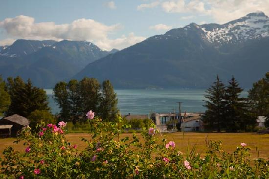 Fort Seward Condos: View of Lynn Canal from porch