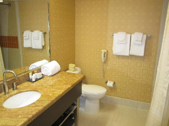 Bally's Atlantic City: Dated but well-appointed bathroom