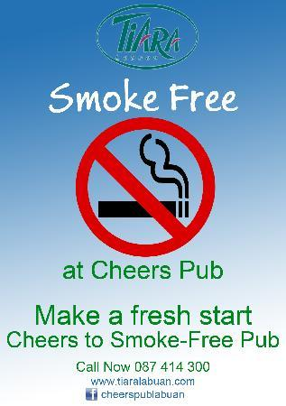 Tiara Labuan Hotel: smoke free pub