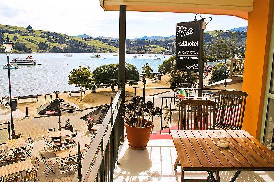 L'Hotel Akaroa: view from room two balcony