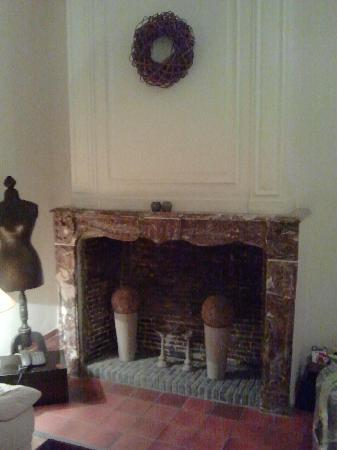 Hotel Montanus: fireplace in the living room