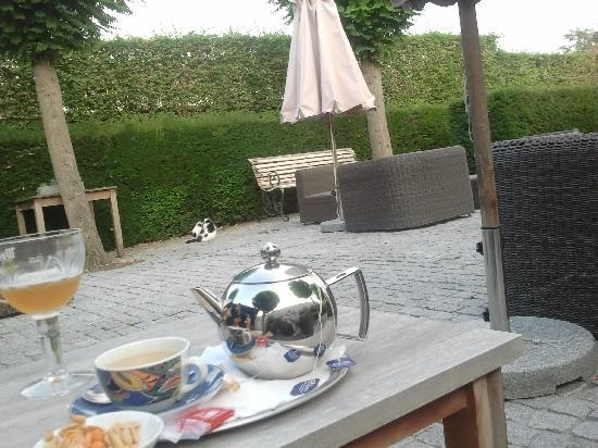 Hotel Montanus: outdoor lounge. part of the wonderful garden
