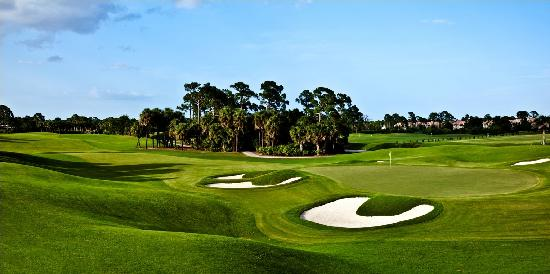 PGA Golf Club in PGA Village - Ryder Course: Hole 18 green