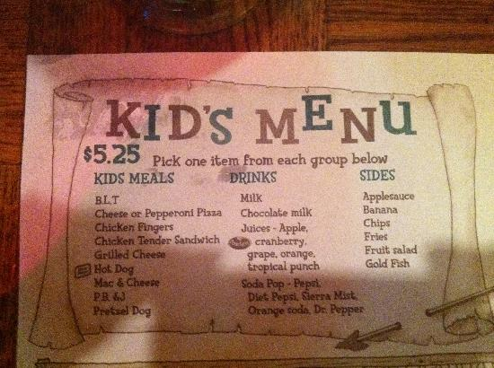 Macado's: Kid's Menu
