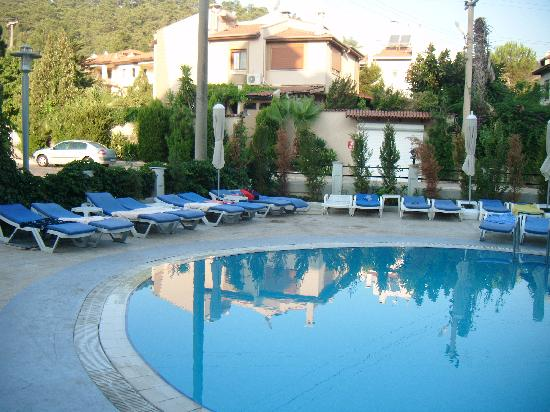 Blue Park Hotel: Swimming pool and sun loungers, go out early to secure yours!!!