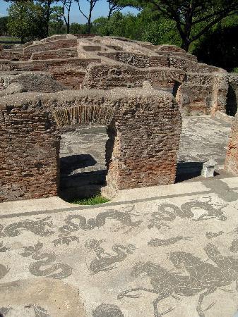Parco Archeologico di Ostia Antica: exemple de mosaïque