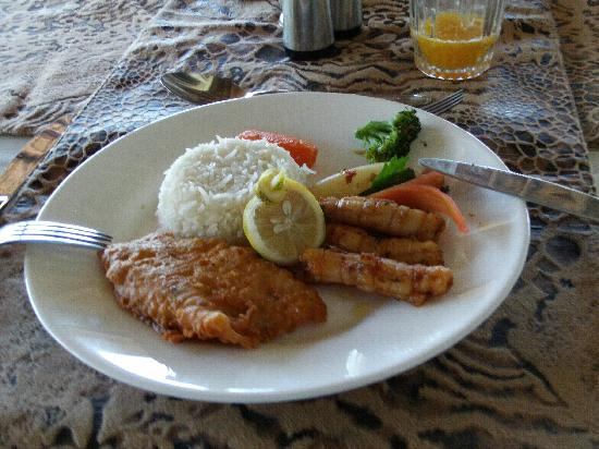 Leopard Beach Resort & Spa: Great food