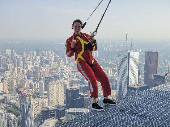 Edge Walk at the CN Tower : Livin on the edge!