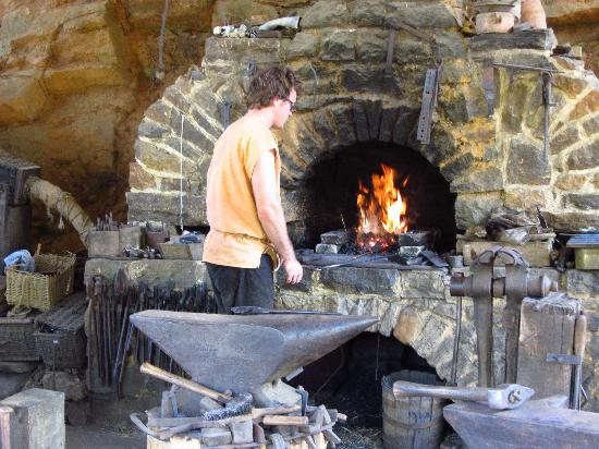 Treigny, Francia: Nearly all metal pieces are forged by hand
