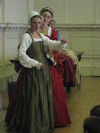 Hampton Court Castle and Gardens: One of the enactments