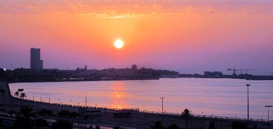 Al Mahary Radisson Blu Hotel, Tripoli: Sunset from my balcony