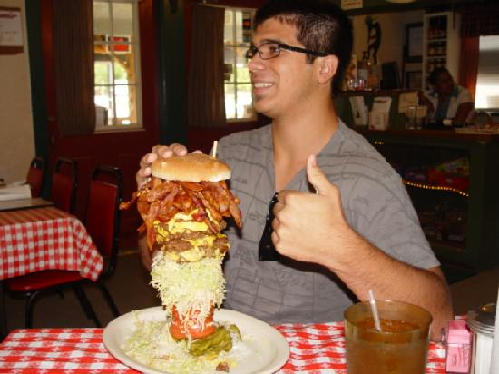 Mel\'s Mega Burger - Picture of Mel\'s Country Cafe, Tomball ...