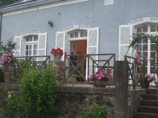 Hotel Les Grands Chenes: Terrasse vor unserem Zimmer