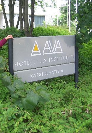 Ava Hotel: Sign