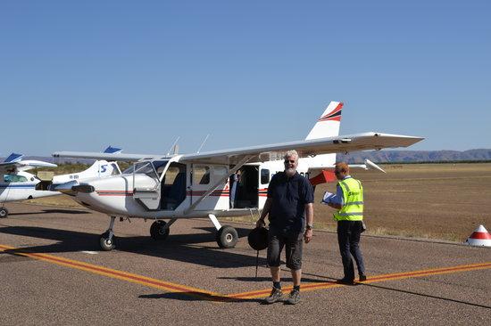 Aviair: plane, pilot and tourists