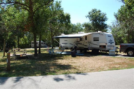 Stockton Lake: campsite