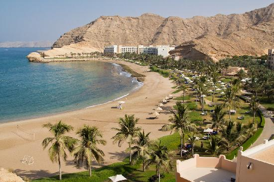 Shangri La Barr Al Jissah Resort & Spa-Al Husn: The view from our room. At the end is the Al Waha hotel.