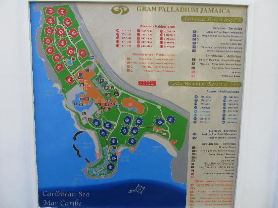 Grand Palladium Lady Hamilton Resort & Spa: Carte du site.