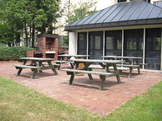 Rivergreen Resort Hotel: gas grills and a picnic area for your enjoyment!