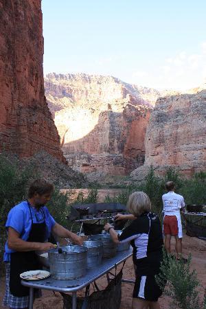 Arizona Raft Adventures: Camp Kitchen