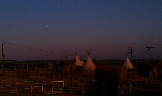 Cherry Wood Bed Breakfast and Barn: Tee Pees at Sunset