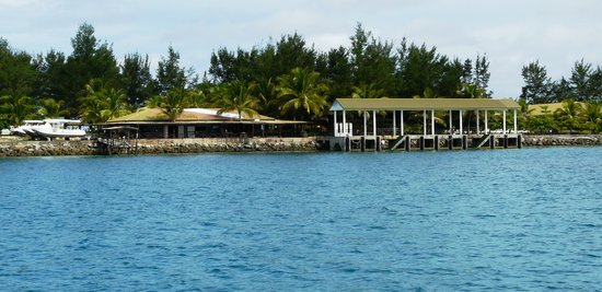 Layang Layang Island Resort: The dive centre and jetty.