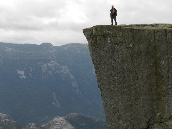 Jorpeland, Norwegen: At the top of Preikestolen