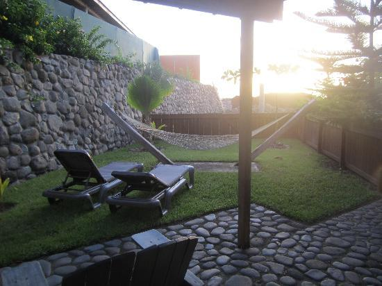Pagua Bay House Oceanfront Cabanas: Sunrise from the front porch