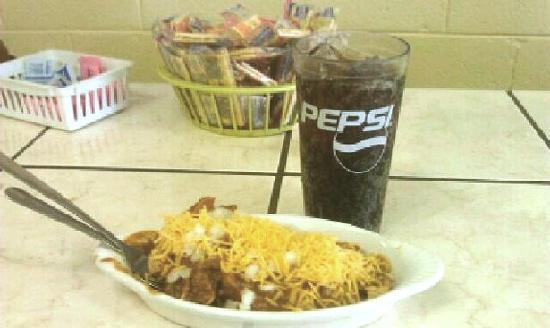 Ike's Chili House: Frito Chili Pie and Pepsi - Happy 103rd Birthday Ike's