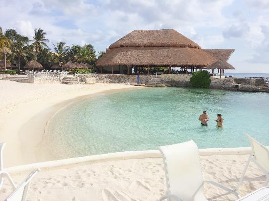 Presidente Inter-Continental Cozumel Resort & Spa: Beach w/outdoor restaurant background
