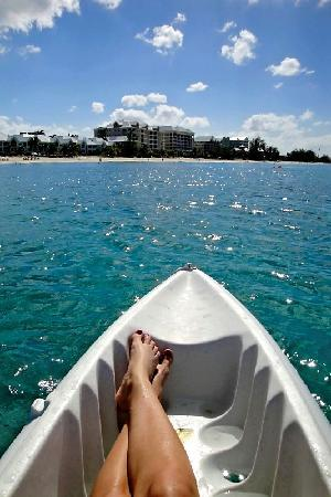 The Ritz-Carlton, Grand Cayman: lots of fun using the complimentary kayaks