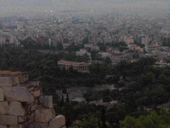 Best Western Pythagorion Hotel: a view to Athens from Acropolis