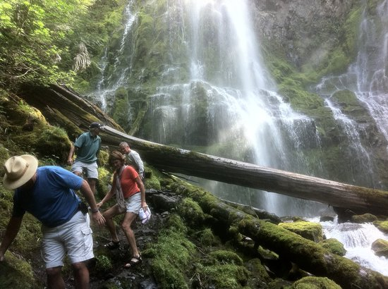 Proxy Falls : This demonstrates the relative size of the Upper Falls