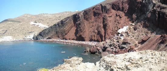 Villa Pelekanos: red beach