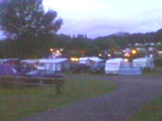 Lady's Mile Holiday Park: a view of the camping field from our static caravan