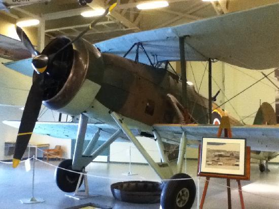 Shearwater Aviation Museum: Biplane on display