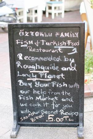 Oztoklu Restaurant: menu