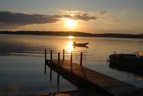 Interlochen, MI: Sunrise on Duck Lake