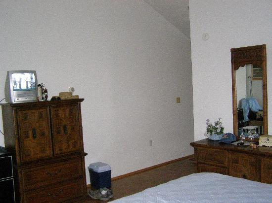 The Cherry Orchard B&B: large armoire & dresser; fridge next to armoire
