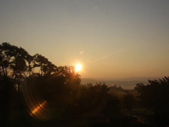 The Cherry Orchard B&B: sunrise from our room