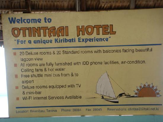Otintaai Hotel: misleading add!