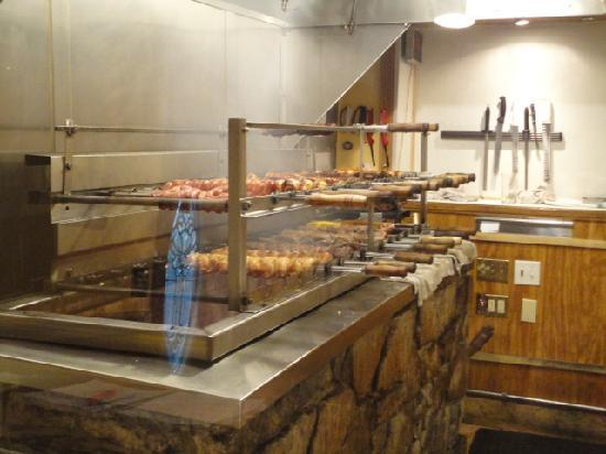 Rios Brazilian Steakhouse: the grill area