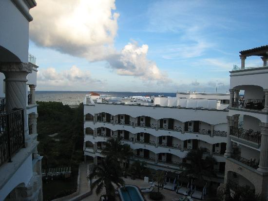 The Royal Playa del Carmen: View from our room w Cozumel in background.