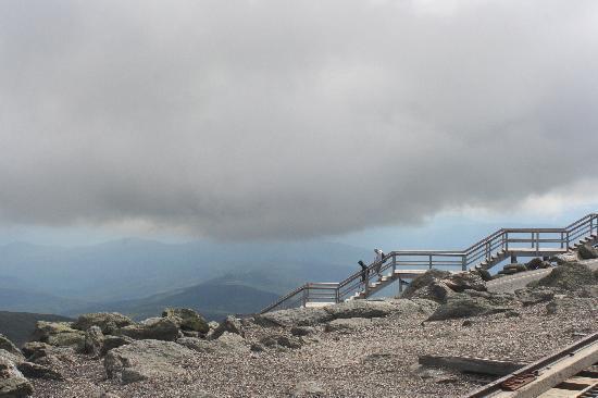 The Mount Washington Cog Railway: Here comes the cloud!