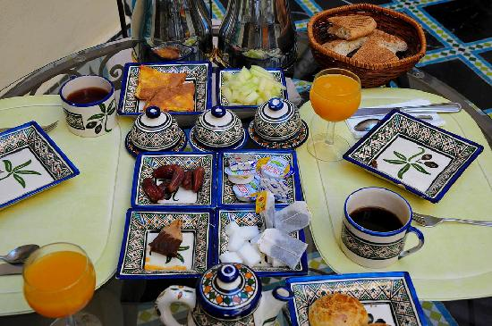 Breakfast, Riad Zitouna