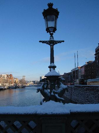 The Clarence: Majestic Liffey and old latern
