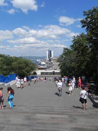 The Odessa Port: Steps down to Odessa port