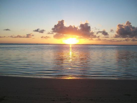 view of sunrise from fale